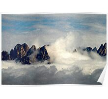 Mountains Through the Clouds Poster