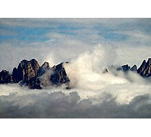 Mountains Through the Clouds Photographic Print