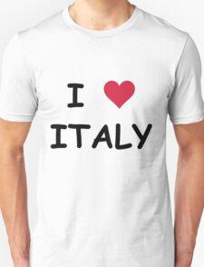 I LOVE ITALY Unisex T-Shirt