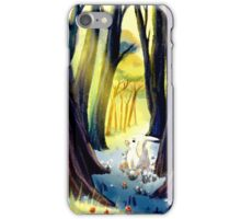 Bunny at the forest iPhone Case/Skin