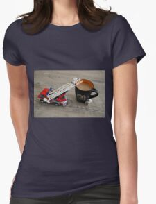 Emergency Caffiene Womens Fitted T-Shirt