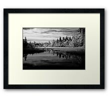 Still Water Reflection - Acadia National Park Framed Print
