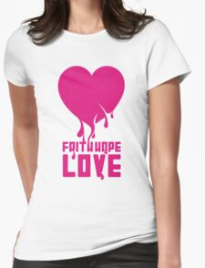 Faith Hope Love Womens Fitted T-Shirt