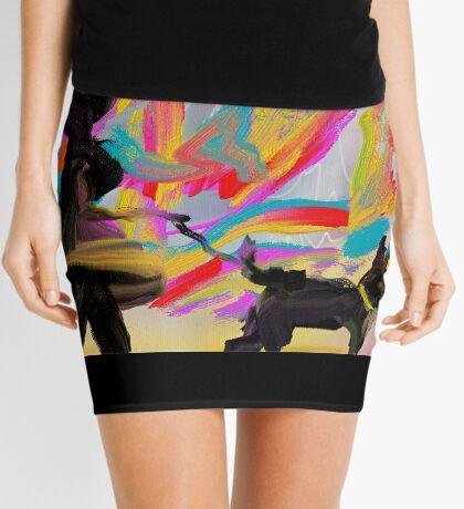 Walking the Black Dog Mini Skirt