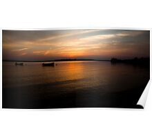 Sunset Boats - Georgetown PEI Poster