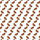 Cartoon Hotdog repeated pattern by KirbyKoolAid