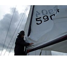 Swedish Sailor Getting the Boat Ready - Gothenburg, Sweden Photographic Print