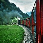 The Zillertal Steam Train by Xandru