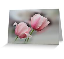 Twin Pinks Greeting Card