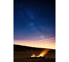 Campfire at the beach Photographic Print