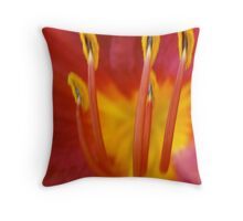 macro lily Throw Pillow