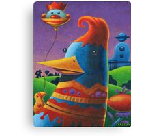 Birdie's plan for the day Canvas Print