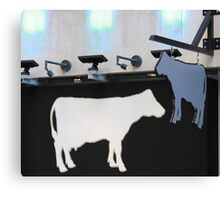 Downtown Cows Canvas Print