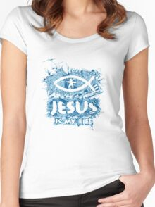 Jesus is my life Women's Fitted Scoop T-Shirt