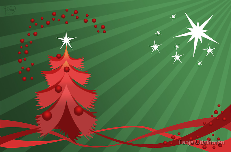 Christmas Greeting Card 2 by Tanja Udelhofen