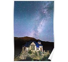 Perseid Meteor Shower and Chapel On The Rock Poster