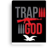 Trap God with ak Canvas Print