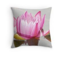 water lily emerging Throw Pillow