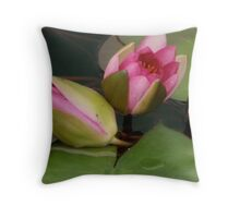 water lily buds Throw Pillow