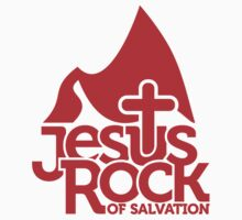 Jesus rock of salvation Kids Tee