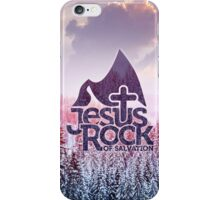 Jesus rock of salvation iPhone Case/Skin