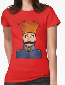retro soldier portrait  Womens Fitted T-Shirt