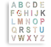 Alphabet #1 Canvas Print