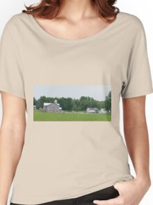 The Amish Farm in color Women's Relaxed Fit T-Shirt