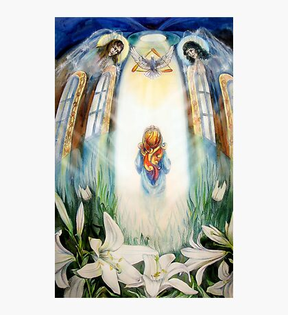 Maria and Angels Photographic Print