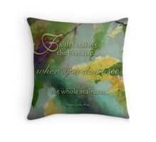 faith is - wisdom saying no. 10 Throw Pillow