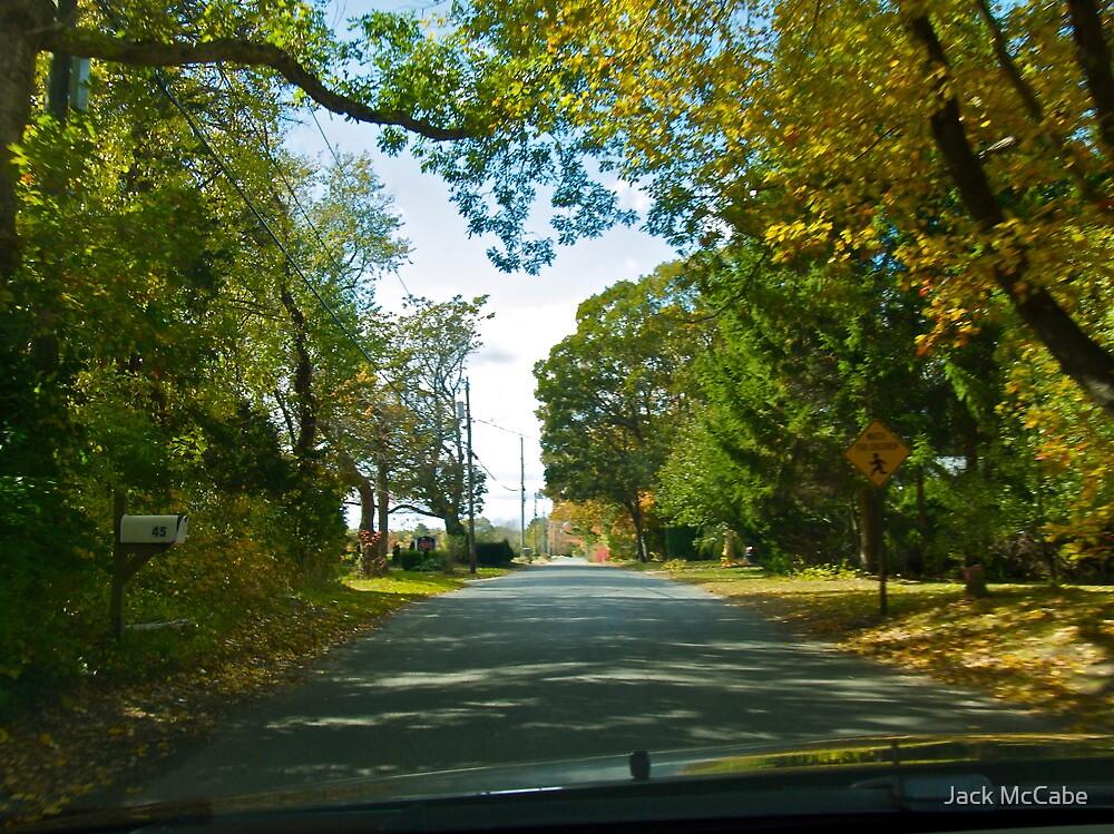 Drive Down Liberty Lane - Fall in Rhode Island by Jack McCabe