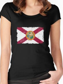 Florida Flag - Vintage Look Women's Fitted Scoop T-Shirt