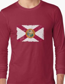 Florida Flag - Vintage Look Long Sleeve T-Shirt