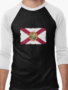 Florida Flag - Vintage Look Men's Baseball ¾ T-Shirt