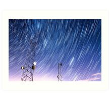 Cell Phone Tower Star Communications  Art Print