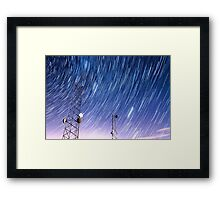 Cell Phone Tower Star Communications  Framed Print