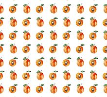 Seamless pattern with watercolor apricots by olyaanikeeva