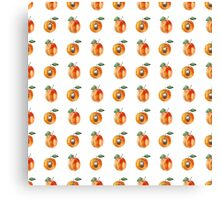 Seamless pattern with watercolor apricots Canvas Print