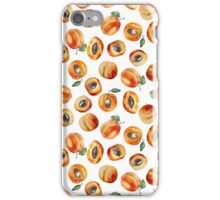 Seamless pattern with watercolor apricot iPhone Case/Skin