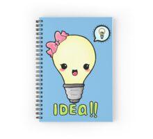 kawaii light bulb  Spiral Notebook