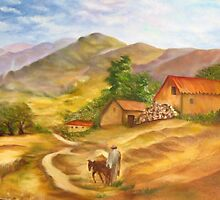 A farmer on the Galilee by Racheli