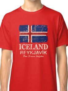 Iceland Flag - Vintage Look Classic T-Shirt