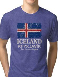 Iceland Flag - Vintage Look Tri-blend T-Shirt
