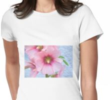 Hollyhocks - impressions Womens Fitted T-Shirt