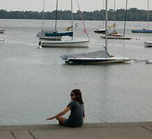 Girl on the Lake by Celia  Heringman