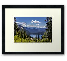 Dewey Lake Mt Rainier National Park Framed Print