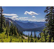Dewey Lake Mt Rainier National Park Photographic Print