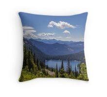 Dewey Lake Mt Rainier National Park Throw Pillow