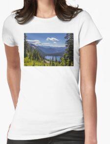 Dewey Lake Mt Rainier National Park Womens Fitted T-Shirt
