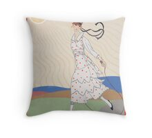 art deco girl Throw Pillow